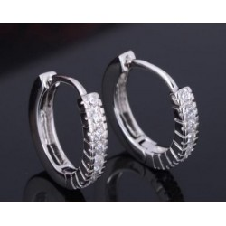 Fashion Örhängen Ringar Strass Silverpläterade 13mm