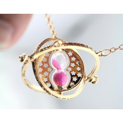Hermione Grangers Rotating Time Turner 18K guldplätering, Rosa