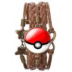 Pokemon Go Pokeball, eternity, fjärilar ochLäder im. armband