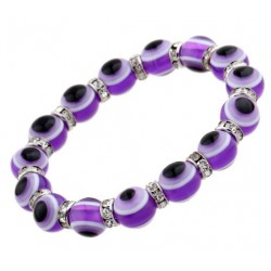 "Fräckt Armband Turkisk ""Lucky Eye"" lila"