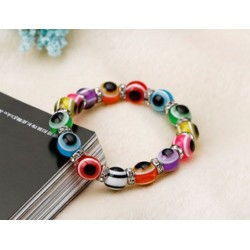 Fräckt Armband Turkisk Lucky Eye multicolor